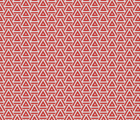 Red Triangles fabric by beautiful_mathematics on Spoonflower - custom fabric