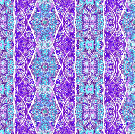 Ye Olde Blue and Lavender Feminine Victorian Vertical Stripe fabric by edsel2084 on Spoonflower - custom fabric