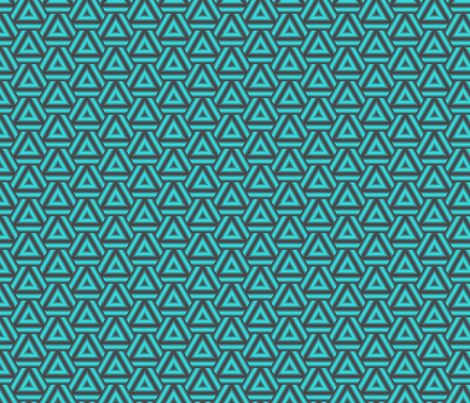 Turquoise Triangles fabric by mihaela_zaharia on Spoonflower - custom fabric
