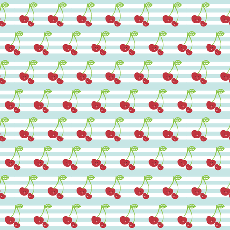 Mama Cherry Trim fabric by tradewind_creative on Spoonflower - custom fabric