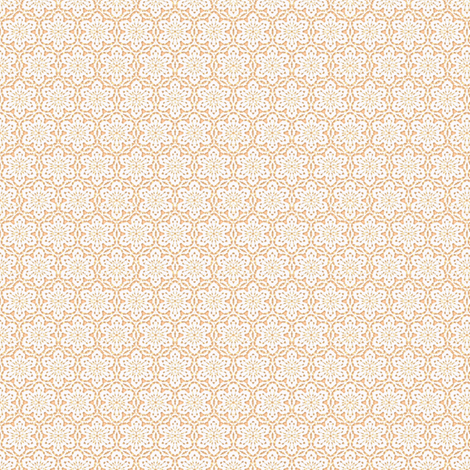 Snowflake Lace -peach1 and white fabric by fireflower on Spoonflower - custom fabric