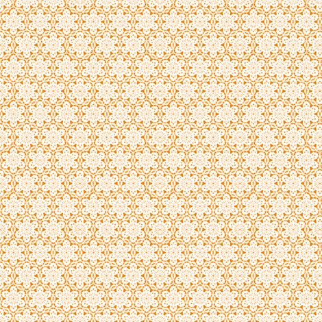 Snowflake_Lace_-orange1 fabric by fireflower on Spoonflower - custom fabric