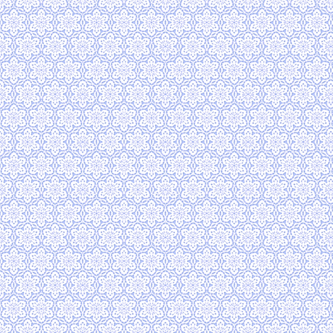 Snowflake_Lace_-periwinkle1 fabric by fireflower on Spoonflower - custom fabric