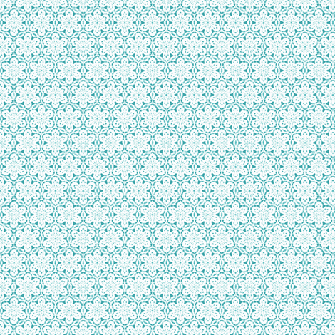 Snowflake_Lace_-teal1 fabric by fireflower on Spoonflower - custom fabric