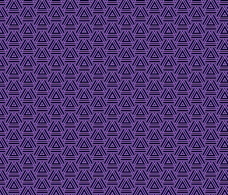 Purple triangles fabric by mihaela_zaharia on Spoonflower - custom fabric