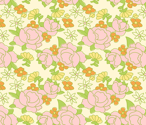 vintage 5 fabric by kategabrielle on Spoonflower - custom fabric