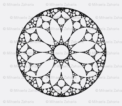 Doilies black on grey