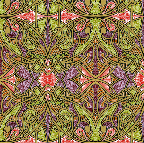 Spiffy Tiffy fabric by edsel2084 on Spoonflower - custom fabric