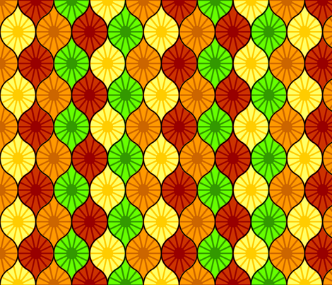 Citrus Ogee fabric by spacefem on Spoonflower - custom fabric