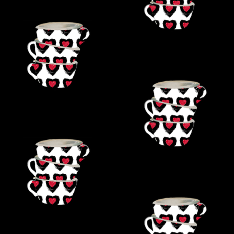 Cups of Love fabric by karenharveycox on Spoonflower - custom fabric