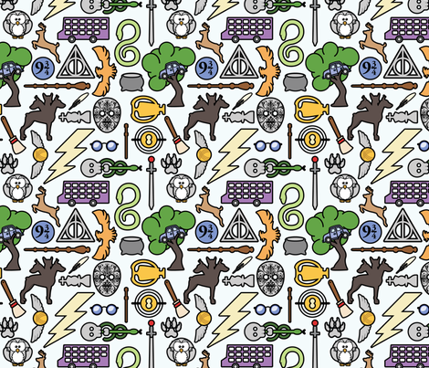 Specialis Revelio fabric by studiofibonacci on Spoonflower - custom fabric