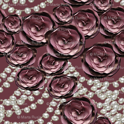 roses and pearls layered