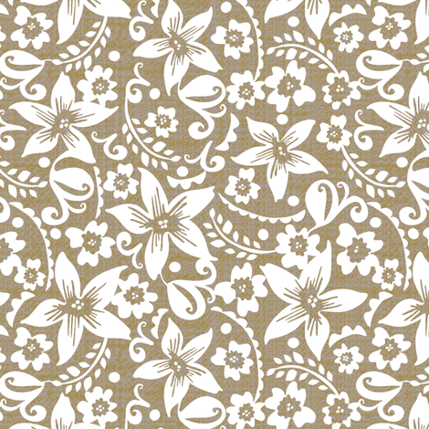 Neutral floral-small fabric by ottomanbrim on Spoonflower - custom fabric