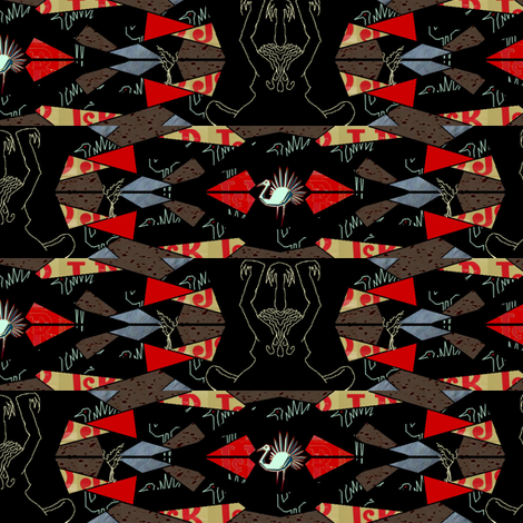 piume di cristallo 2 fabric by emanuelletomato on Spoonflower - custom fabric