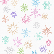 Snowflakes over the Rainbow