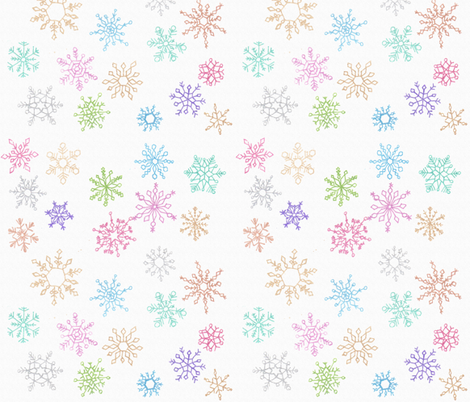 Snowflakes over the Rainbow fabric by fortheloveofholidays on Spoonflower - custom fabric
