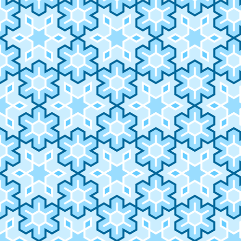 snowflake (6) detailed fabric by sef on Spoonflower - custom fabric