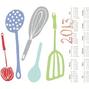 Magic Kitchen Tools (multi) -- 2013 Tea Towel Calendar