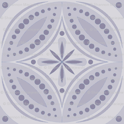 Moroccan Tiles (Pale Violet)