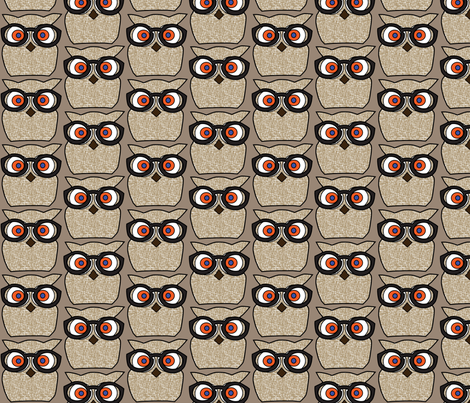 Maximillian Hoots fabric by pink_koala_design on Spoonflower - custom fabric