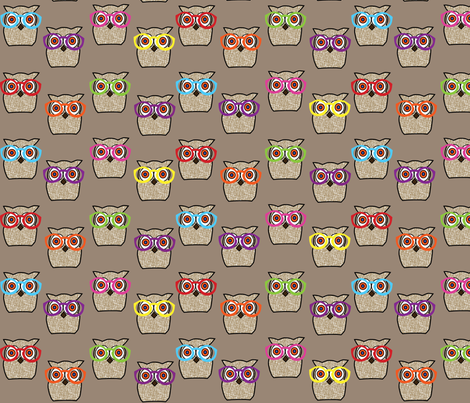 Owl_City_Glasses fabric by pink_koala_design on Spoonflower - custom fabric
