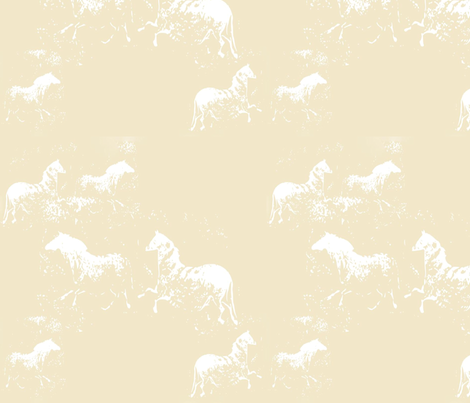 Ethereal Horses fabric by karendel on Spoonflower - custom fabric