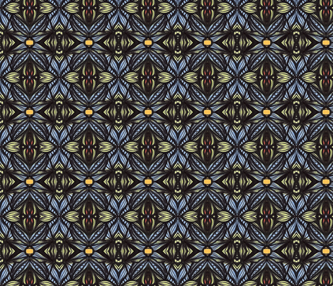 Blue X for La La fabric by kcs on Spoonflower - custom fabric