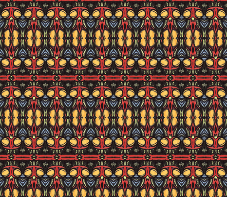 La La lined up fabric by kcs on Spoonflower - custom fabric