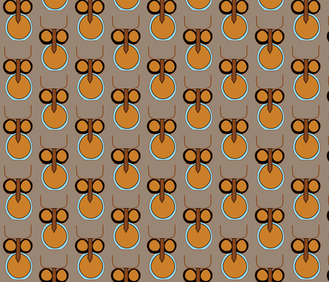 Art_Deco_Owl fabric by pink_koala_design on Spoonflower - custom fabric