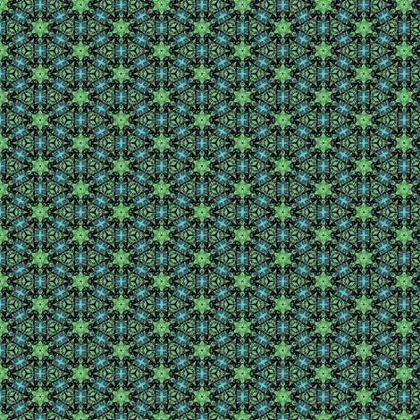 Snowflakes, green fabric by mihaela_zaharia on Spoonflower - custom fabric