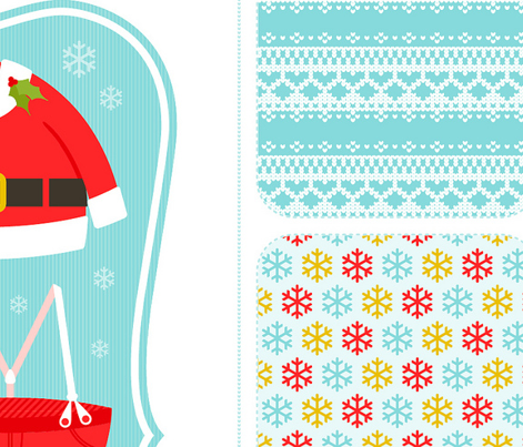Santa tea towels & potholder