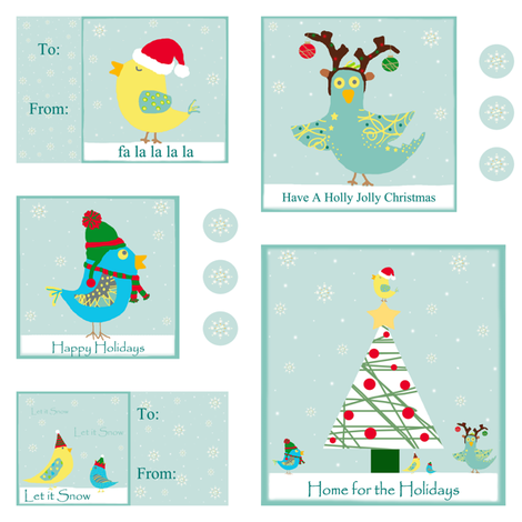 Christmas Birdies  fabric by arttreedesigns on Spoonflower - custom fabric