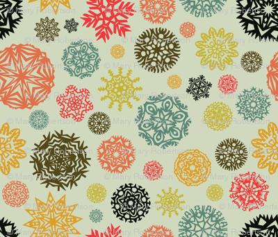 Xmas Lounge Paper Snowflakes