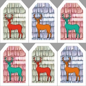 Sweet deer gift tags
