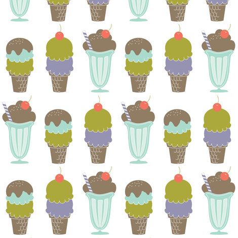 Ice Cream Line-Up fabric by eleasha on Spoonflower - custom fabric