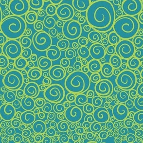 Spirals Blue