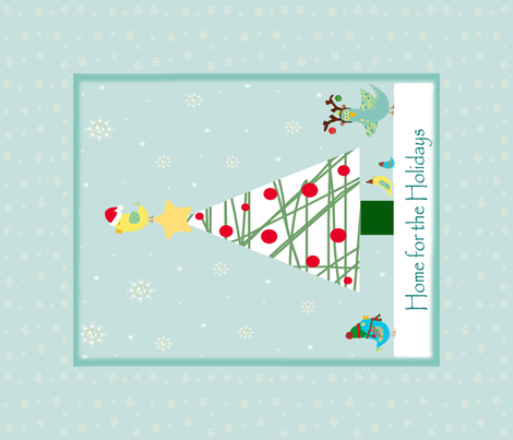 Christmas Birdies Cheater Quilt fabric by arttreedesigns on Spoonflower - custom fabric