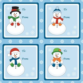 Frosty Family Gift Tags