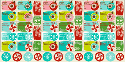 'Tis the Season Too! ~ Gift Tags ~ set no. 1 (WALLPAPER SWATCH)