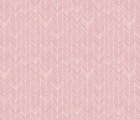 featherland Dusty Pink/Cream fabric by leanne on Spoonflower - custom fabric