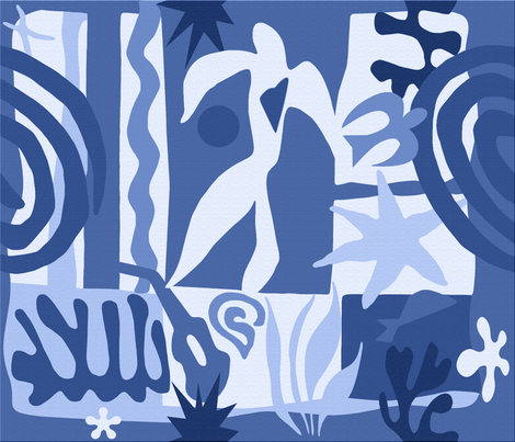 Matisse03blue fabric by chicca_besso on Spoonflower - custom fabric