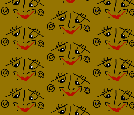 The Face fabric by anniedeb on Spoonflower - custom fabric