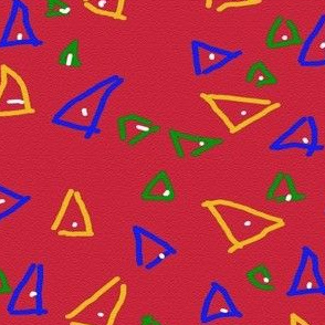Unfulfilled Triangles on Red