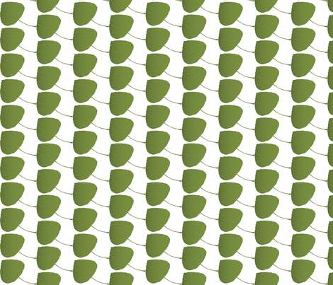 Leaf-Aspen-green fabric by terriaw on Spoonflower - custom fabric