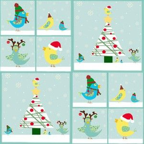 Christmas Birdie Squares