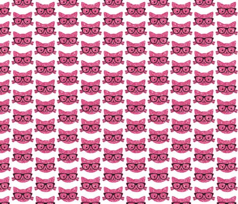 Sparkle Cats- Pink fabric by cynthiafrenette on Spoonflower - custom fabric