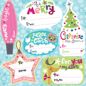 Funky Christmas Gift Tags Set