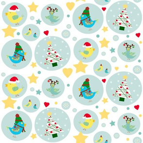 Christmas Birdie Dots