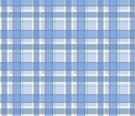Blue and white plaid.