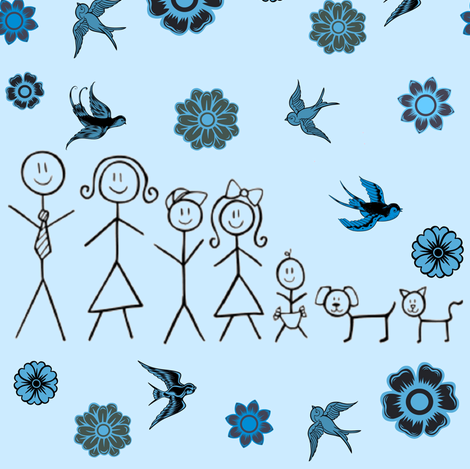 FAMILY DAY fabric by bluevelvet on Spoonflower - custom fabric